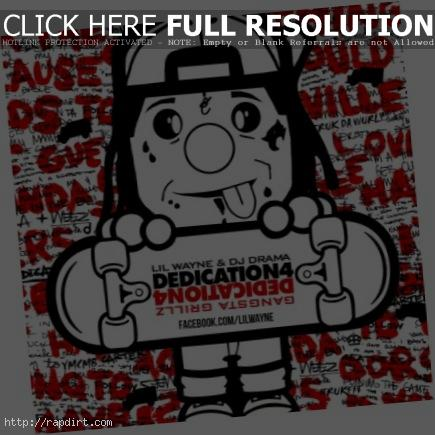 Lil Wayne 'Dedication 4' Mixtape cover